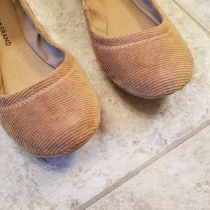 Lucky Brand Shoes - New LUCKY BRAND Corduroy Tan Ballet Flats NWT